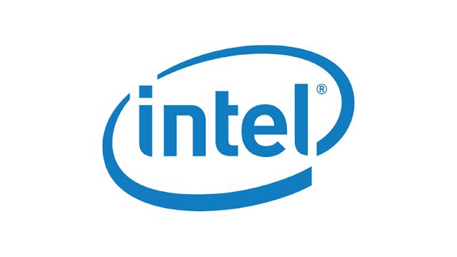 Logo Intel memiliki simbol R di kanan atas teks