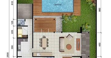 lingkar warna: denah rumah minimalis ukuran 15x25 meter 5