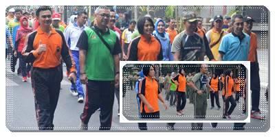 Olah Raga bersama Sambut HUT Lalu Lintas Bhayangkara Ke 63