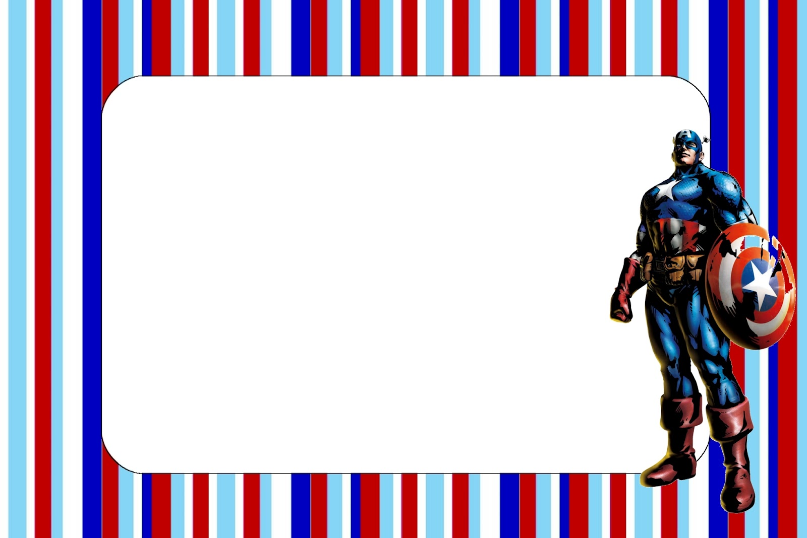 Captain America Free Printable Invitations Oh My