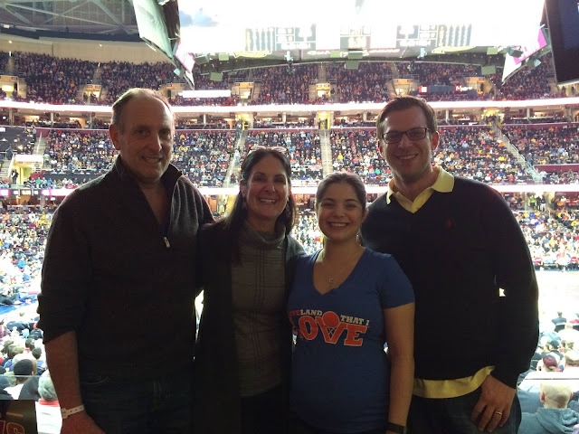 Venture & Roam: Uncle Julian, Auntie Anne, Me, and Husband at the Cav's game