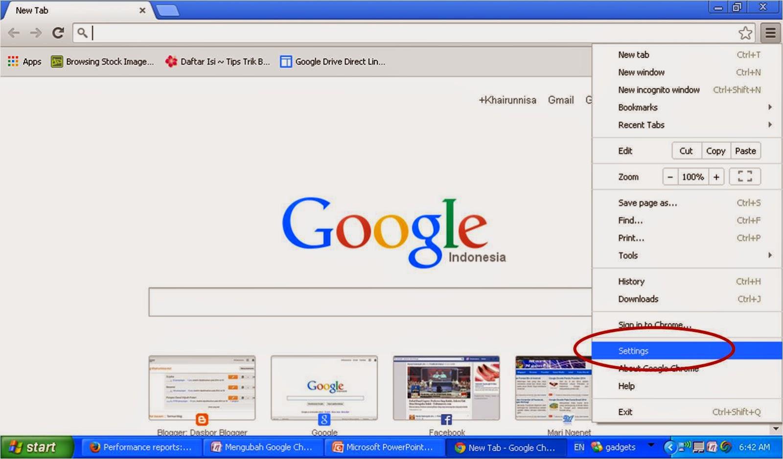 Mengubah Google Chrome Menjadi Bahasa Indonesia