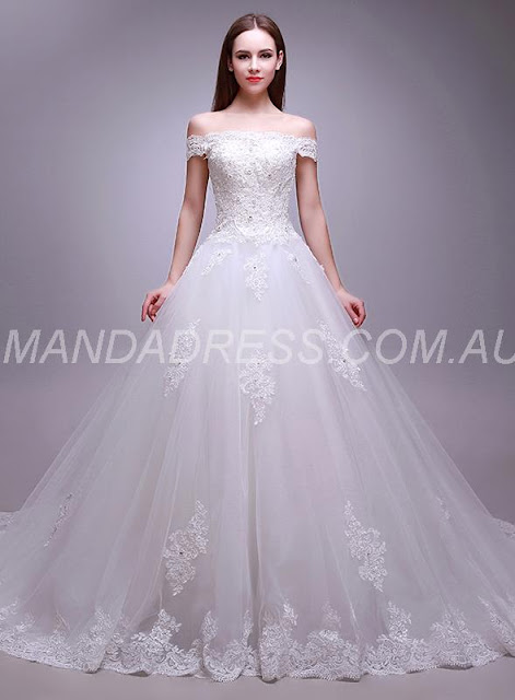 Lace-up Beading Spring Church Winter Elegant & Luxurious Fall Floor-Length Wedding Dress