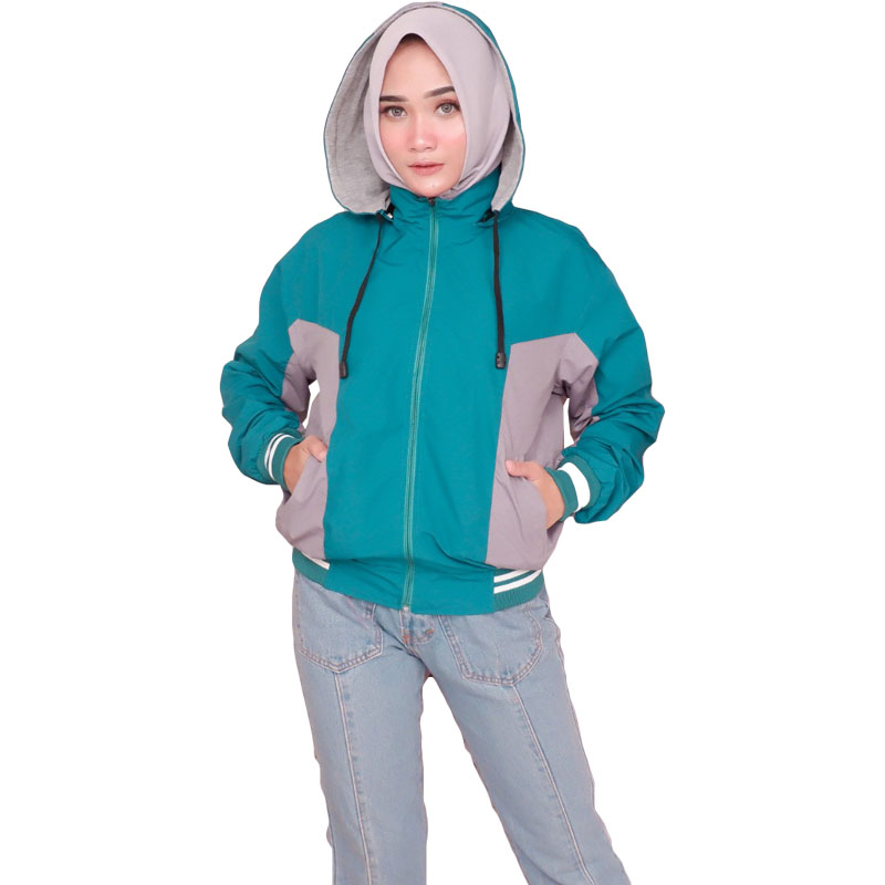 Jaket Boomber Jaket Parasut Wanita Premium - Tosca
