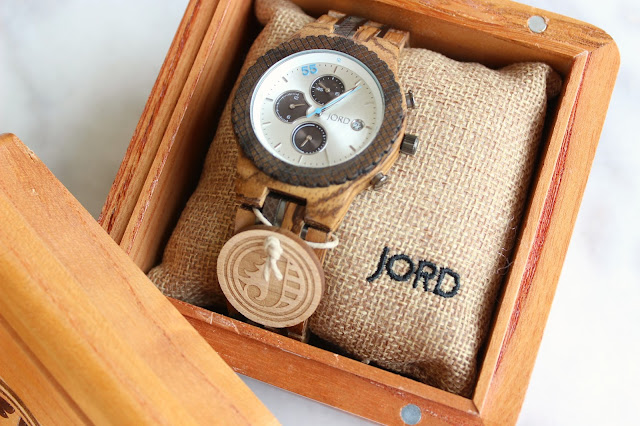 working dad time gift unique men's wood watch zebrawood sandalwood