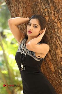 Actress Poojitha Pallavi Naidu Stills in Black Short Dress at Inkenti Nuvve Cheppu Movie Platinum Disc Function  0025.JPG