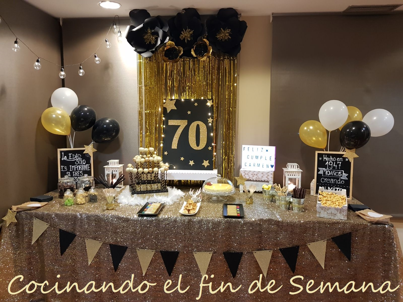 Decoracion cumpleano 70 pictures to pin on pinterest for Decoracion 70 s