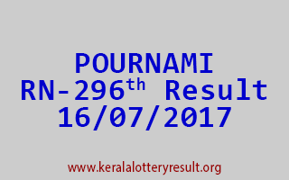 POURNAMI Lottery RN 296 Results 16-7-2017