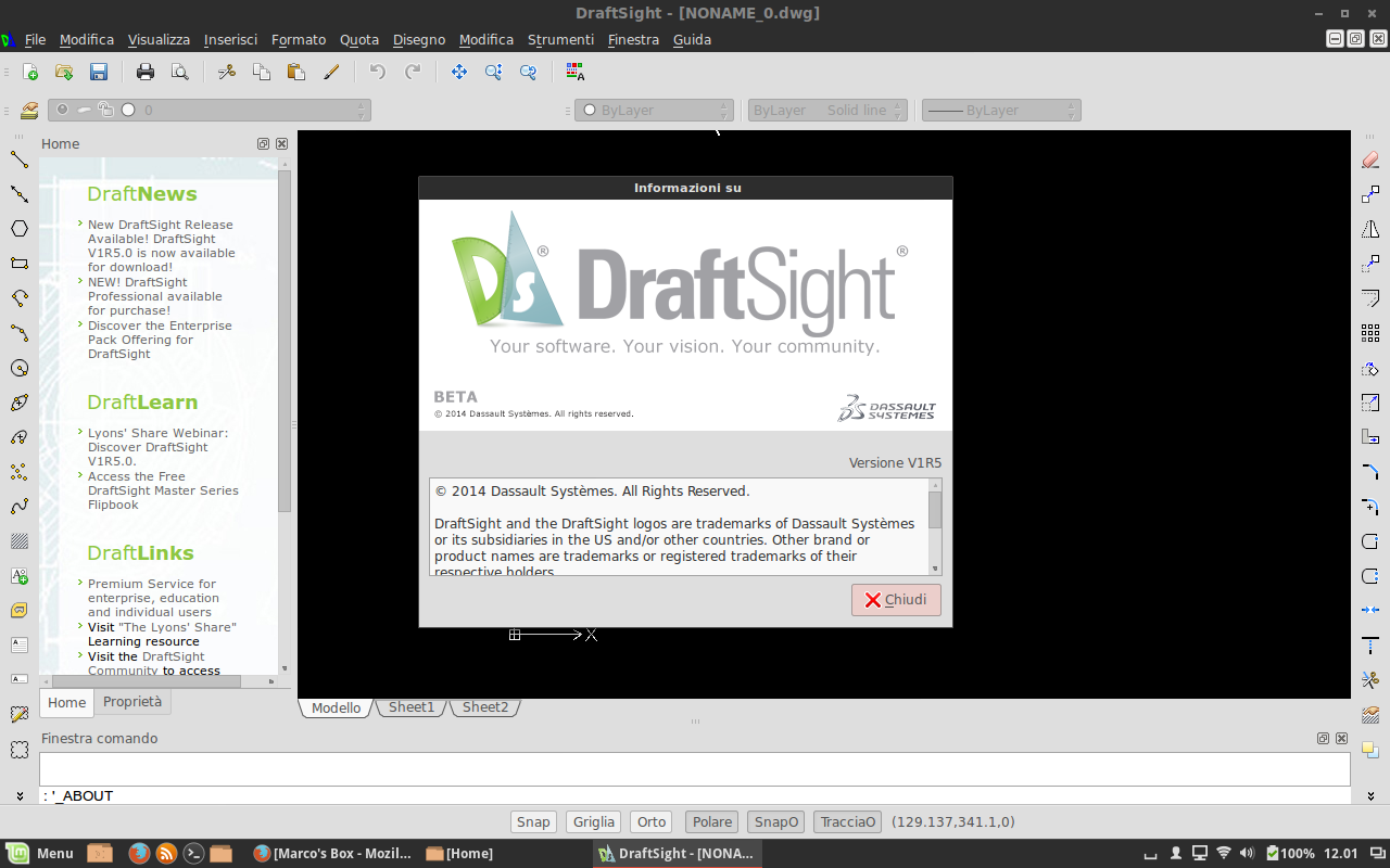 Rilasciato DraftSight V1R5 0 per Linux, Mac e Windows
