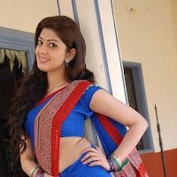 Cute pranitha in a blue saree
