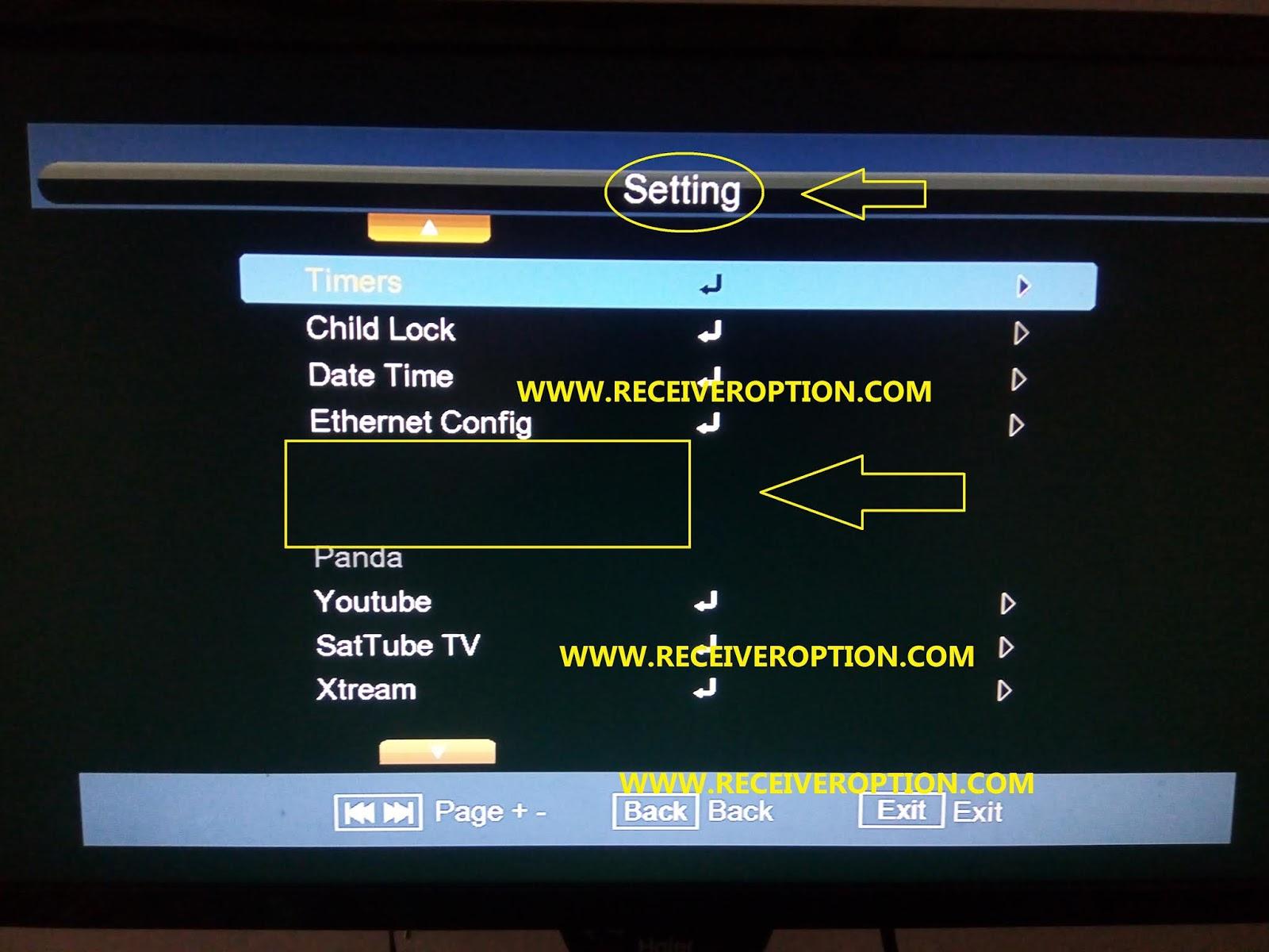 TIGER F8 HD RECEIVER CCCAM OPTION - Receiver Option