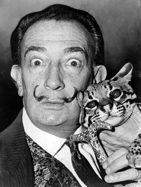 Salvador Dali dengan ocelot