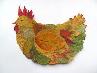 hen - leaf fall crafts
