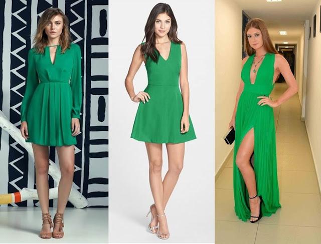 Resultado de imagem para vestido na cor greenery