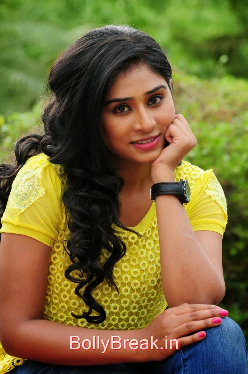 Archana Photoshoot Stills,  Archana Stills in yellow top From Madurai Maavendharkal Tamil Movie