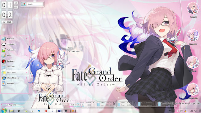 Fate/Grand Order: First Order Theme Win 7 by Enji Riz Lazuardi