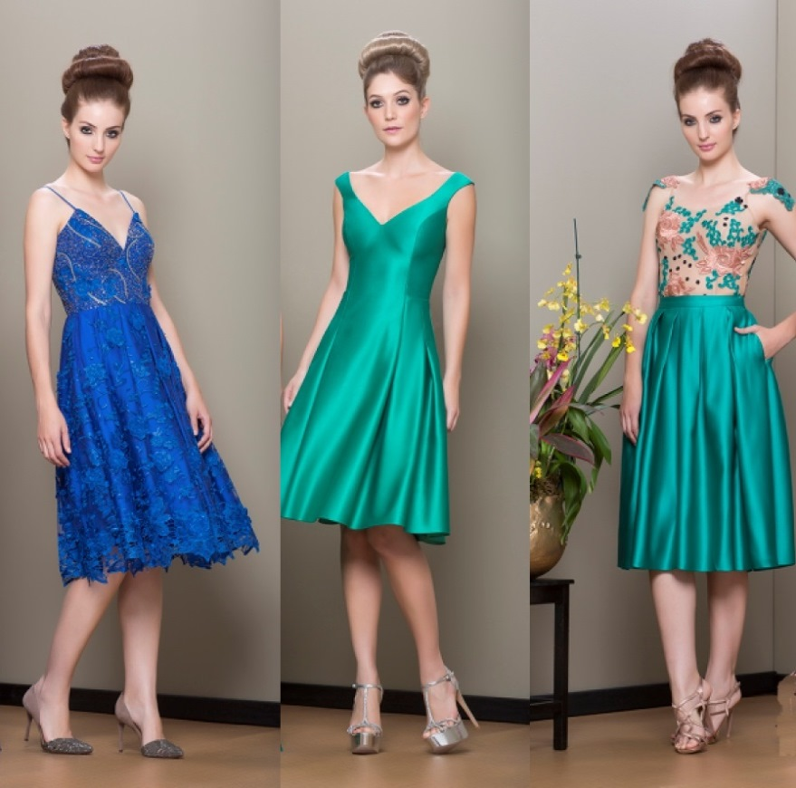 Vestidos de casamento curto verde