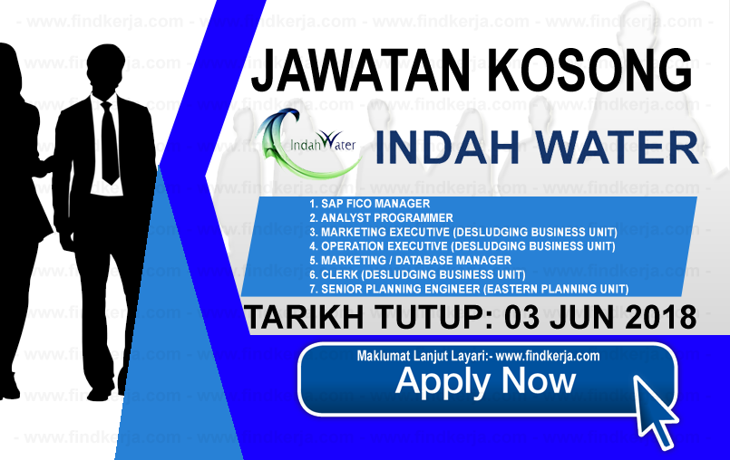 Jawatan Kerja Kosong IWK - Indah Water Konsortium logo www.findkerja.com jun 2018