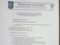 Penerimaan Pegawai NON PNS RSUD Provinsi Nusa Tenggara Barat Tahun 2017