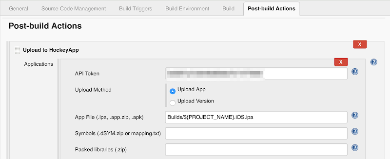 Jenkins HockeyApp post-build action for iOS