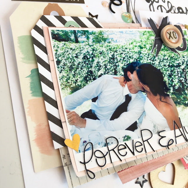 Forever & Always Scrapbook Layout by Angela Tombari