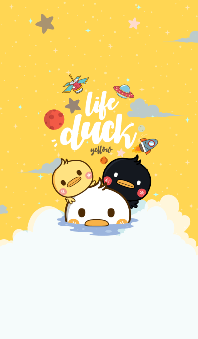 Duck Life Galaxy Yellow