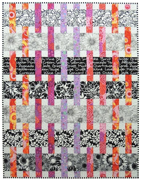 Interweave quilt pattern, Springleaf Studios, Kaffe Fassett