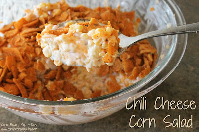 Chili Cheese Corn Salad - the perfect creamy, cheesy, savory side dish for the summer