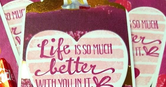 Stampin Punch Art Valentines