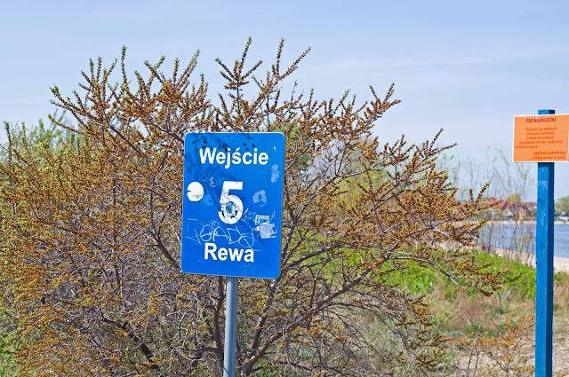 wejście na plaże w Rewie numer 5,