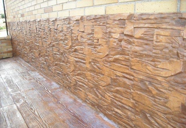 Fachadas con hormig n impreso hormig n impreso granada - Como decorar un muro de hormigon ...