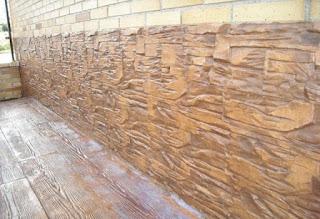 Fachadas con hormigón impreso