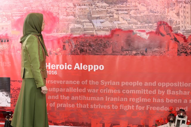 Maryam Rajavi calls to stop the war crimes by the Iranian regime in Aleppo