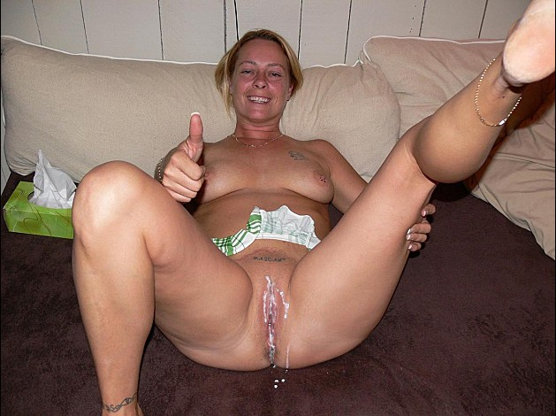 Hairy multiple amateur creampies