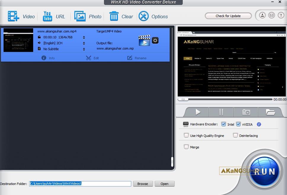 Download WinX HD Video Converter Deluxe 5 Full Version Terbaru