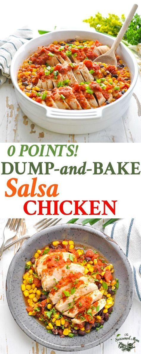 Dump-and-Bake Salsa Chicken