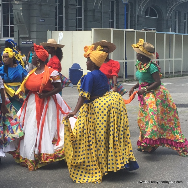 Mudda Sallies dance in parade in Bridgetown, Barbados