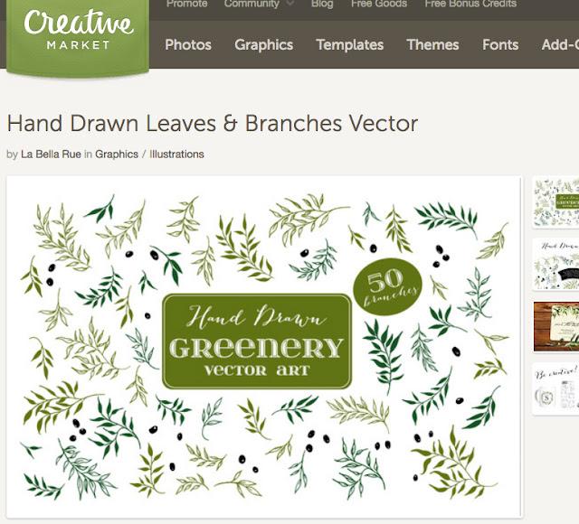 DIY Download Laurel Leaves Vector Art on Creative Market