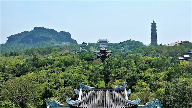 aerial view bai dinh pagoda ninh binh vietnam