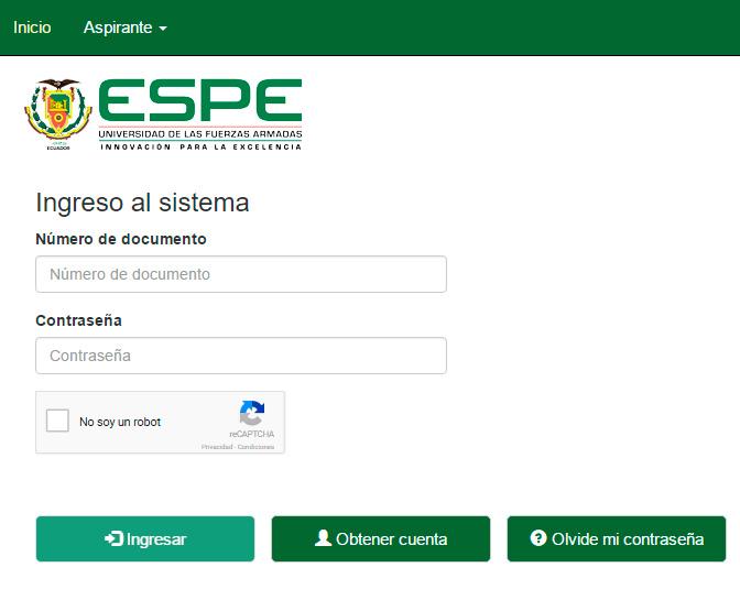 Asignación de Cupos ESPE 2017 - Consultar Resultados Universidad de las FFAA