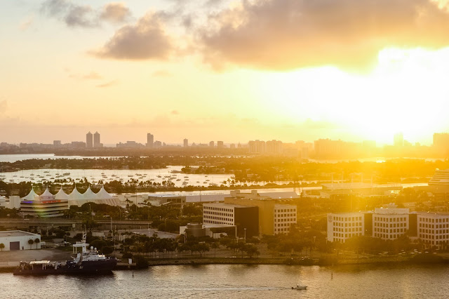 sunrise over Miami