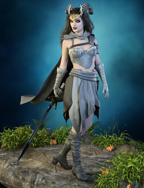 Green Queen Outfit For Genesis 3 Female