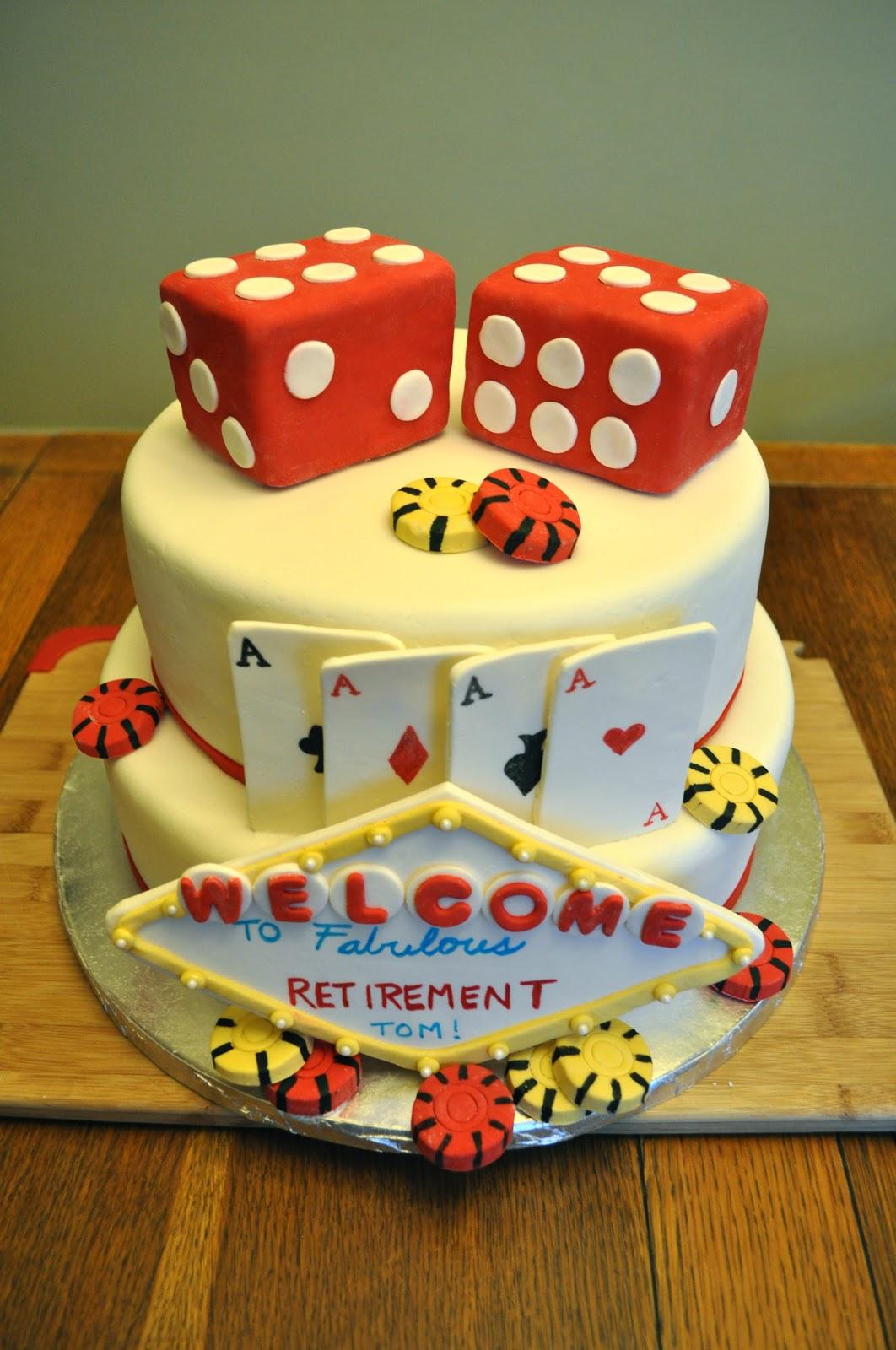 Cakes By Setia Retirement Cake Vegas Style