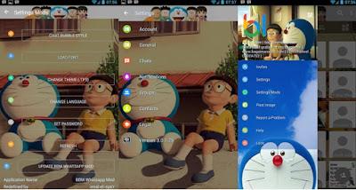BBM Whatsapp Doraemon 3D