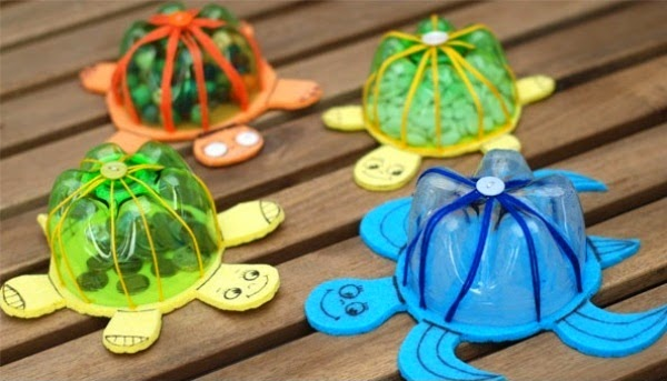 Specifically On Crafts That Can Be Done With Recycled Bottles Including A Dress Arts And Teapots All Made From Plastic