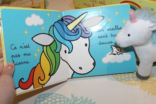livre d'enfant avec des licornes