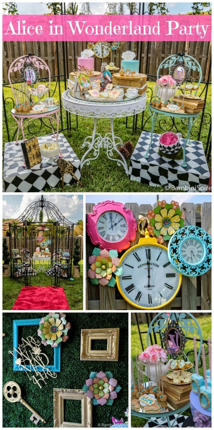 34 creative girl first birthday party themes ideas my - Alice in wonderland outdoor decorations ...