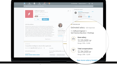 Salary Information feature now on Linkedin