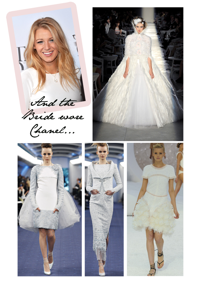 Blake Lively Chanel Wedding gown