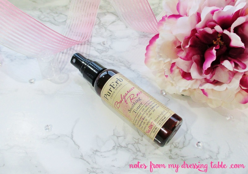 Pur Erb Bulgarian Rose Soothing Toner Review